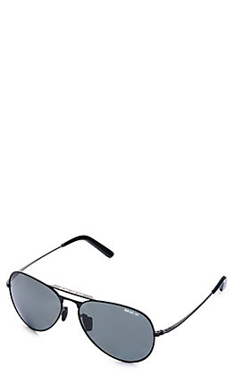 BEX Wesley Black and Grey Polarized Sunglasses