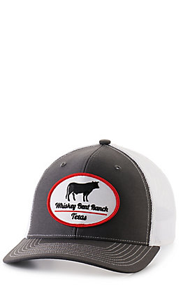 Whiskey Bent Hat Co Grey and White with Logo Patch Snap Back Cap