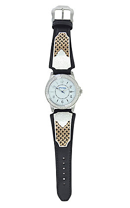 Montana Silversmiths Legacy Weave Leather Watch