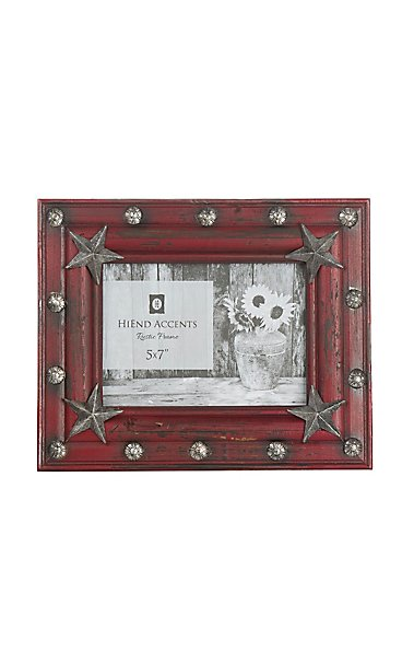 Hiend Accents Red Wood With Stars 5x7 Picture Frame Cavenders