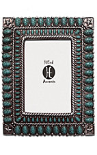 HiEnd Accents Allover Turquoise Stones 4x6 Picture Frame