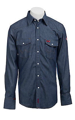 dab886c13bfc Wrangler Mens FR Denim Workshirt - Big   Tall
