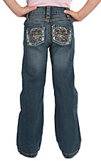 Rock 47 by Wrangler Girl's Medium Blue Boot Cut Jean- Sizes 4-14