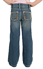 Rock 47 by Wrangler Girl's Light Blue with Stitched Pocket Boot Cut Jean 4-14