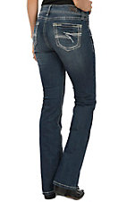 Wired Heart Women's Z Stitch Open Pocket Boot Cut Jeans
