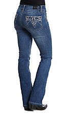 Wired Heart Women's ZigZag Open Pocket Boot Cut Jeans