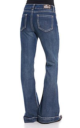 Rockin' C Women's Vintage Wash Basic Trouser Jeans