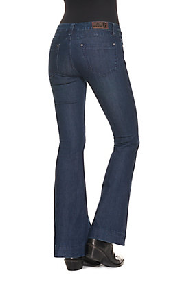 Rockin' C Women's Dark Wash Basic Trouser Jeans