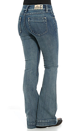 Rockin' C Women's Light Wash Trouser Jeans