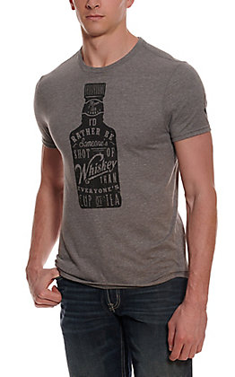 Mason Jar Men's Grey Vintage Whiskey Short Sleeve T-Shirt