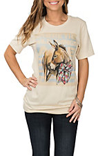 XOXO Art & Co. Where The Wild Things Are Cream Graphic S/S Casual Knit Tee