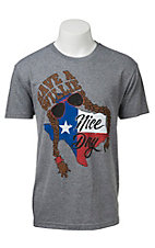Men's Heather Grey Have A Willie Nice Day Short Sleeve Tee