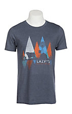 Lazy J Ranchwear Men's Navy Windmill Graphic T-Shirt