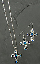 Augus Cross Pendant Necklace & Earring Set