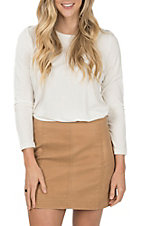 Wishlist Women's Camel Suede A Line Skirt