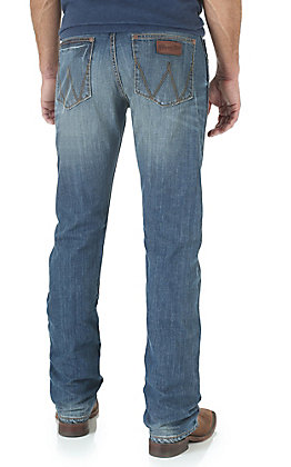 Wrangler Retro Men's Cottonwood Wash Slim Fit Straight Leg Open Pocket Jean