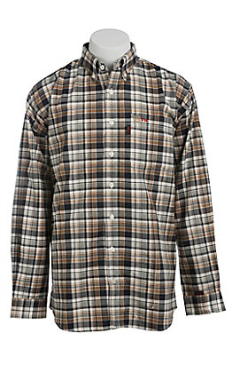 Cinch Men's Flame Resistant Plaid Workshirt WLW3001013