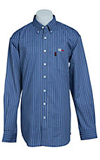 Cinch Men's Flame Resistant Stripe Workshirt WLW3001018