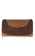 Montana West Women's Tooled Leather Wallet
