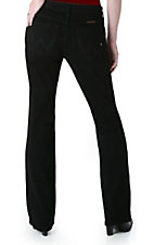 Wrangler Q-Baby Mid Rise Black Stretch Jean
