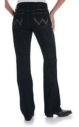 Wrangler Q-Baby Mid Rise Dark Dynasty Stretch Jean