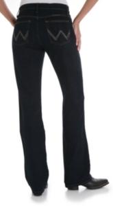 bf0571dbe05 Wrangler Q-Baby Mid Rise Dark Dynasty Stretch Jean