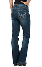 Wrangler The Ultimate Riding Jean Women's Shiloh Medium Blue Above Hip Boot Cut Jean