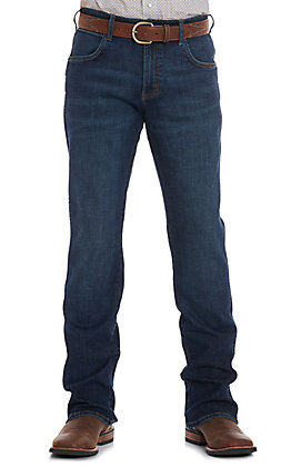 Wrangler Retro Men's Dark Wash Relaxed Boot Cut Jeans