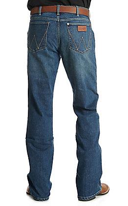 Wrangler Retro Alpine Men's Dark Wash Relaxed Boot Cut Jean