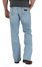 Wrangler Retro Men's Crest Light Stone Wash Boot Cut Jean- Tall Length