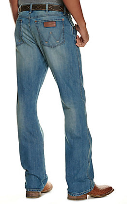Wrangler Retro Men's Light Wash Relaxed Fit Boot Cut Jeans - Cavender's Exclusive