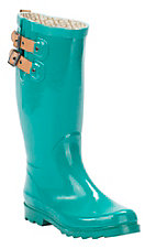 Chooka Women's Jungle Green Round Toe Rain Boots