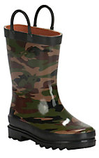 XKH Western Chief Toddler Camo Round Toe Rain Boots