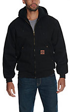 Cowboy Workwear Black Washed Hooded Coat