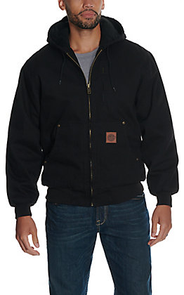 Cowboy Workwear Men's Black Hooded Canvas Jacket