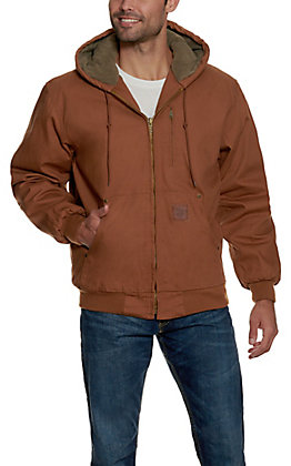 Cowboy Workwear Clay Brown Hooded Canvas Jacket