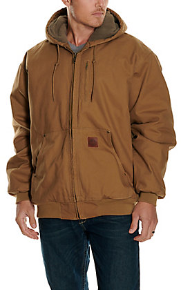 Cowboy Workwear Men's Light Tan Hooded Canvas Jacket