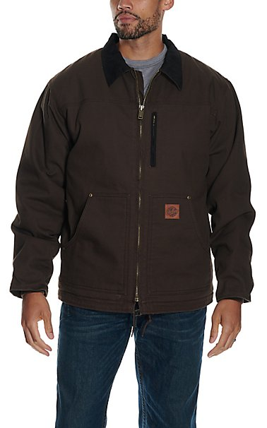 Cowboy Work Wear Dark Brown Fleece Lined Rancher Coat | Cavender's