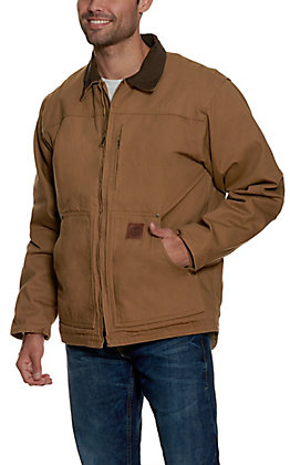 Cowboy Workwear Men's Light Tan Fleece Lined Canvas Rancher Coat