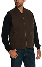Cowboy Hardware Dark Brown Washed Canvas Vest