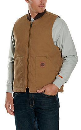 Cowboy Workwear Men's Tan Washed Canvas Vest