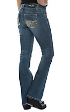 Grace in LA Women's Realtree Camo Pocket Boot Cut Jeans