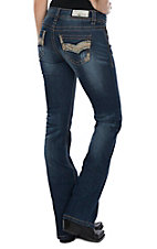 Grace in LA Women's Realtree Wave Stripe Boot Cut Jeans