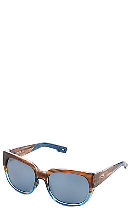 Costa Waterwoman Shiny Wahoo Blue Mirror Sunglasses
