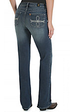 Wrangler Aura Women's Medium Wash Instantly Slimming with Boot Up Technology Jean