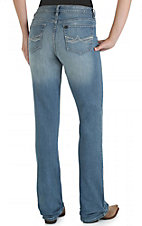 Wrangler Aura Women's Light Wash with Embroidered Pockets Instantly Slimming Jean