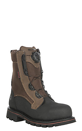 Wolverine Men's Drillbit Oil Rigger Brown Round Composite Toe Lace Up Work Boot