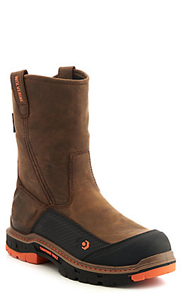 Wolverine Men's Overpass CarbonMax Dark Coffee ContourWelt Waterproof Composite Toe Wellington Work Boot