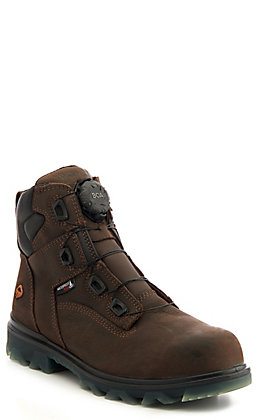 Wolverine Men's I-90 EPX CarbonMax Brown Waterproof Round Composite Toe Lace Up Work Boot