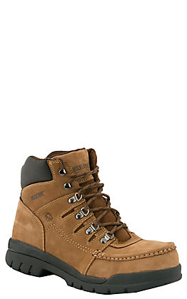 "Wolverine Potomac Men's Brown Moc Steel Toe 6"" Lace Up Work Boots"